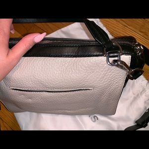 Michael Kors Bags - Michael Kors taupe and black pebbled leather purse